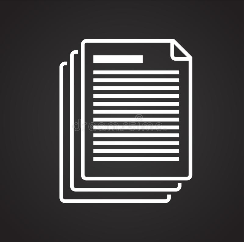 Icône de document d'entreprise sur le fond noir pour le graphique et la conception web, signe simple moderne de vecteur Internet  illustration de vecteur