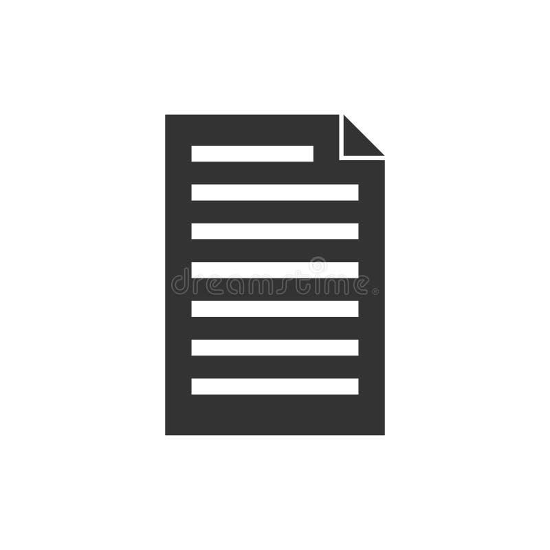 Icône de document plate illustration de vecteur