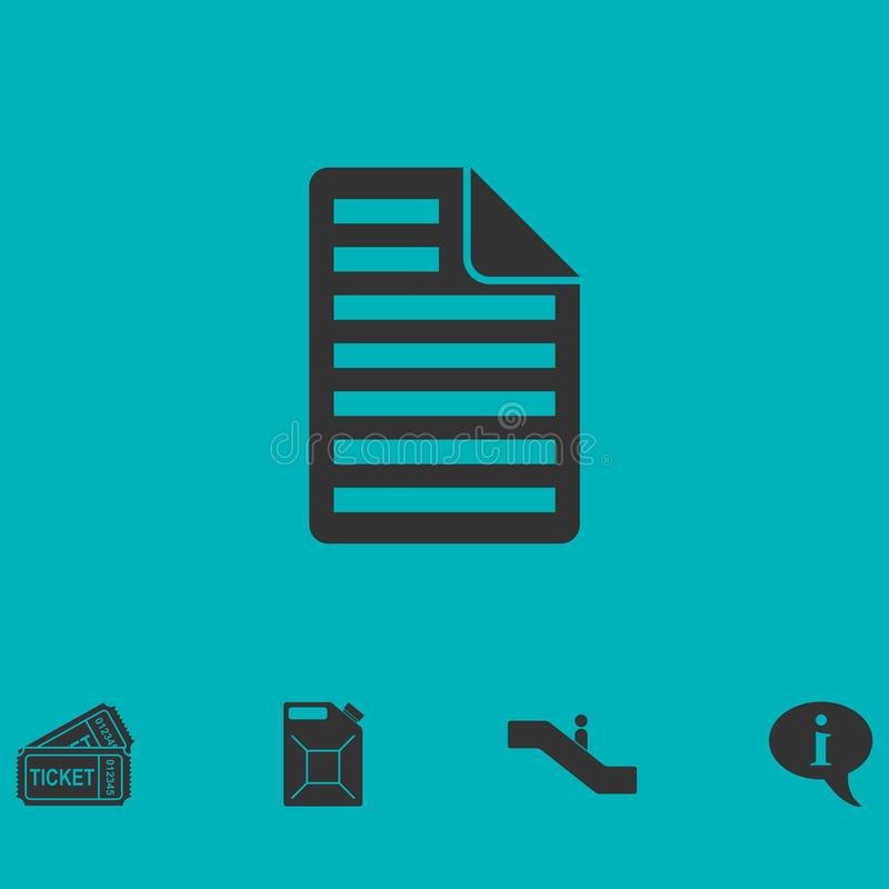 Icône de document plate illustration stock