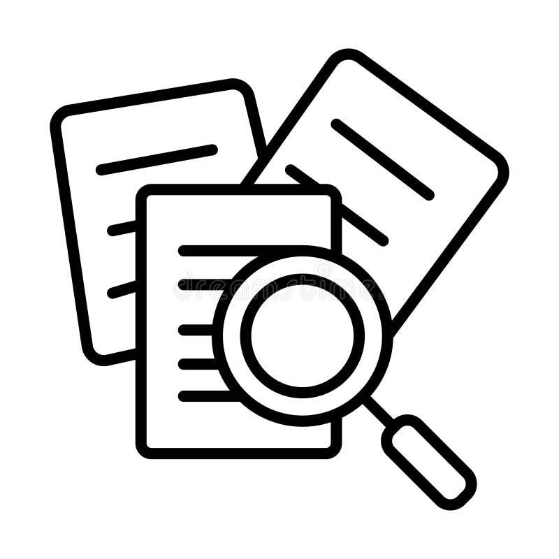 Icône de document de recherche illustration stock