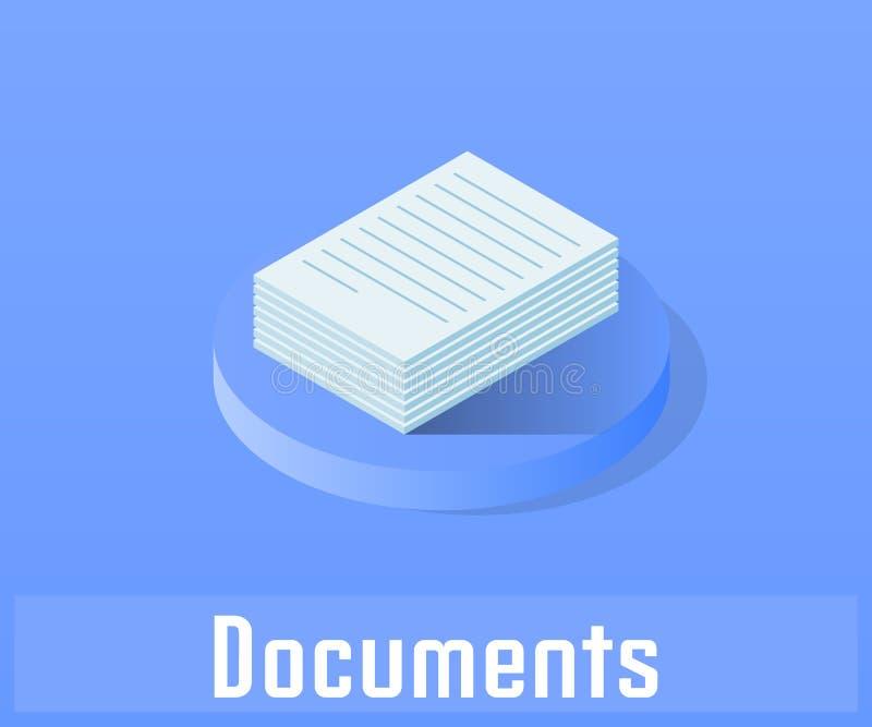 Icône de document, symbole de vecteur illustration libre de droits