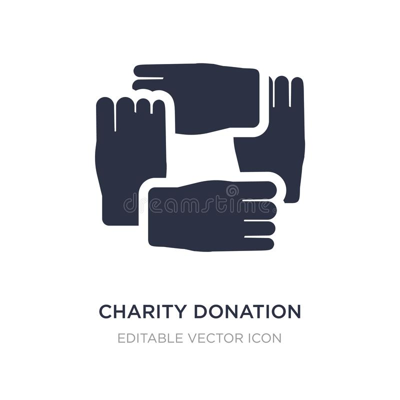 icône de donation de charité sur le fond blanc Illustration simple d'élément de concept de Guestures illustration stock