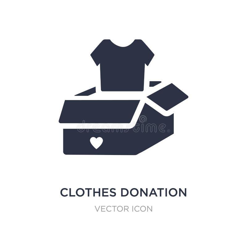icône de donation de vêtements sur le fond blanc Illustration simple d'élément de concept de charité illustration de vecteur