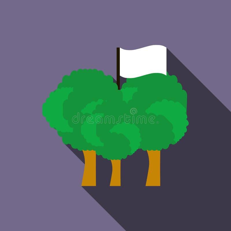 Icône de drapeau d'équipe de Paintball, style plat illustration stock