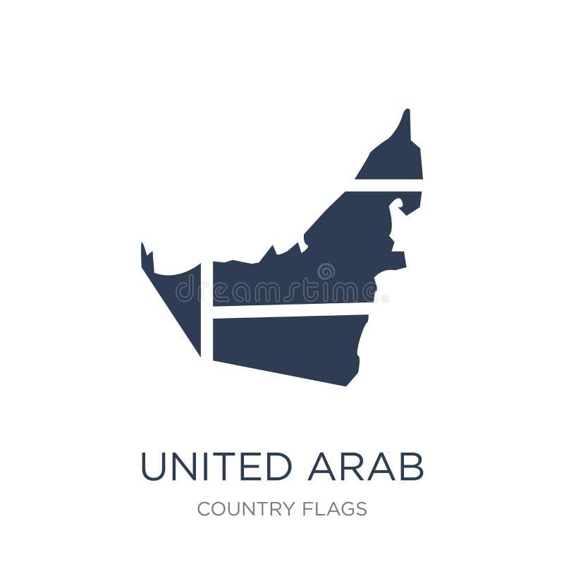 Icône de drapeau des Emirats Arabes Unis  illustration stock