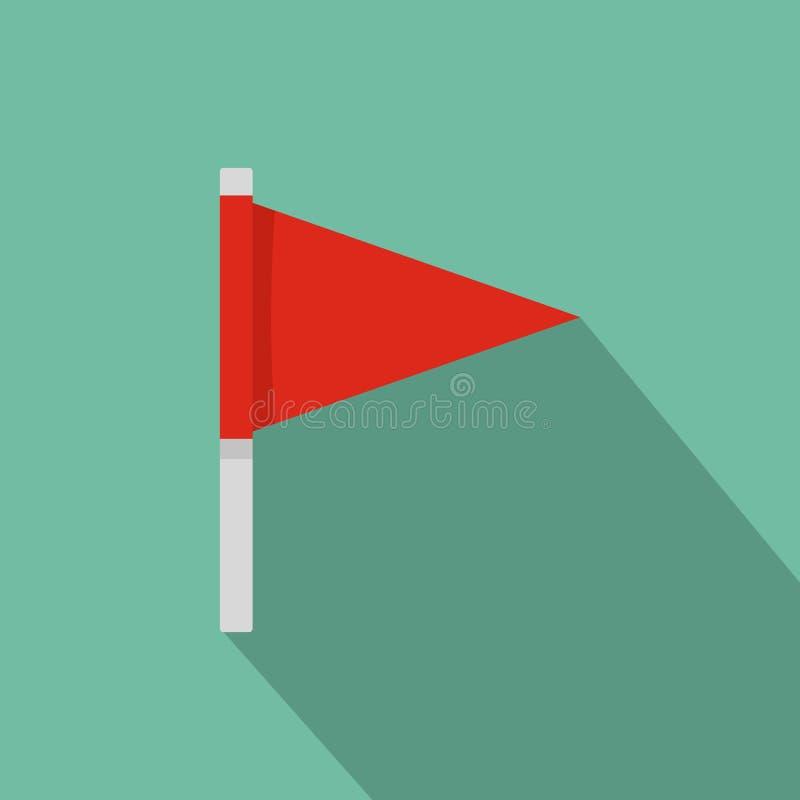Icône de drapeau de destination, style plat illustration libre de droits