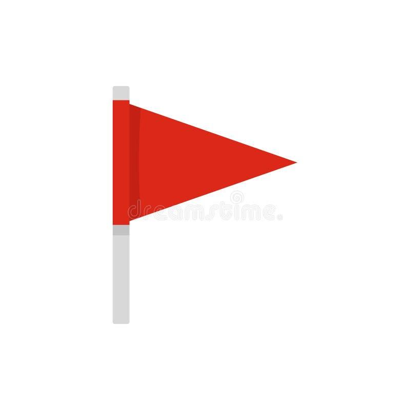 Icône de drapeau de destination, style plat illustration stock