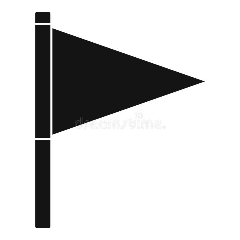 Icône de drapeau de destination, style simple illustration stock