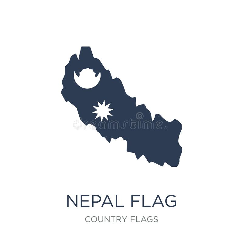 Icône de drapeau du Népal  illustration stock