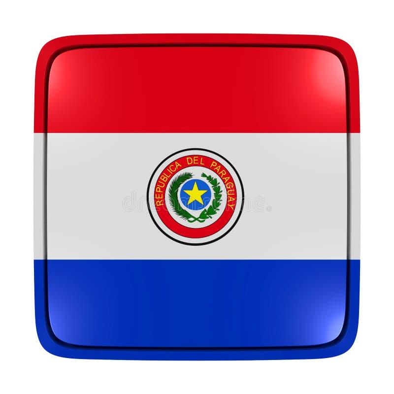 Icône de drapeau du Paraguay illustration stock