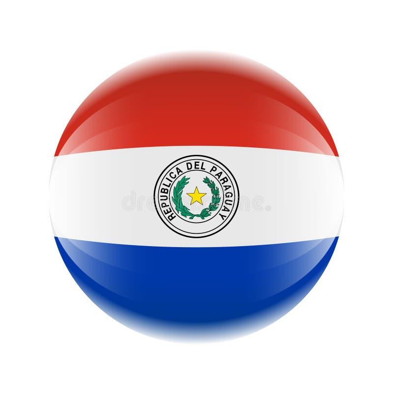 Icône de drapeau du Paraguay sous forme de boule illustration de vecteur