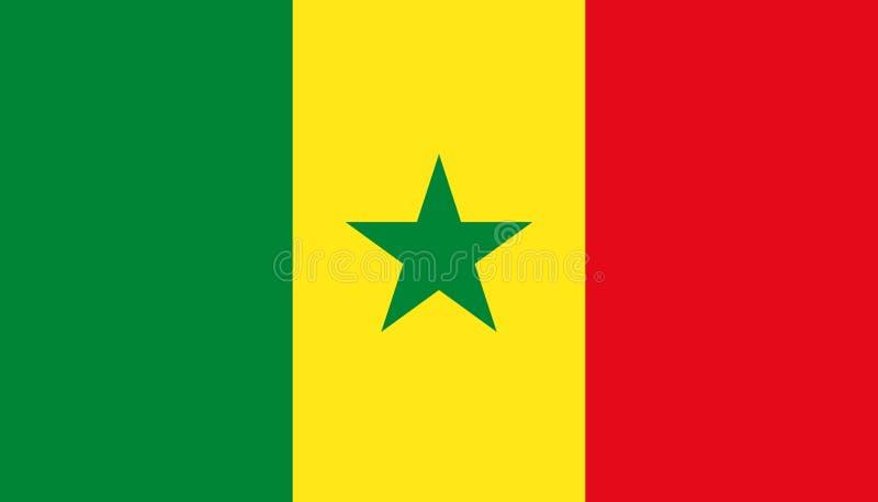 Icône de drapeau du Sénégal dans le style plat Illustration nationale de vecteur de signe Concept adroit d'affaires illustration stock