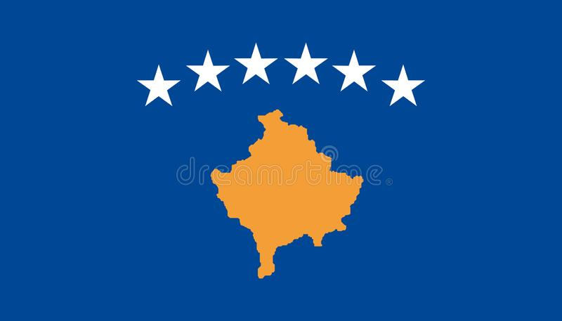 Icône de drapeau de Kosovo dans le style plat Illustration nationale de vecteur de signe Concept adroit d'affaires illustration stock