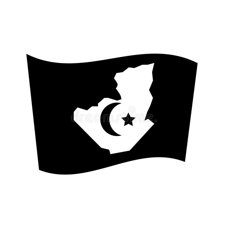 Icône de drapeau de l'Algérie  illustration libre de droits