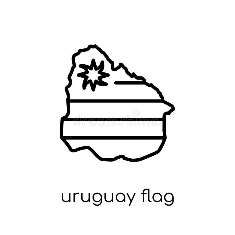 Icône de drapeau de l'Uruguay  illustration stock