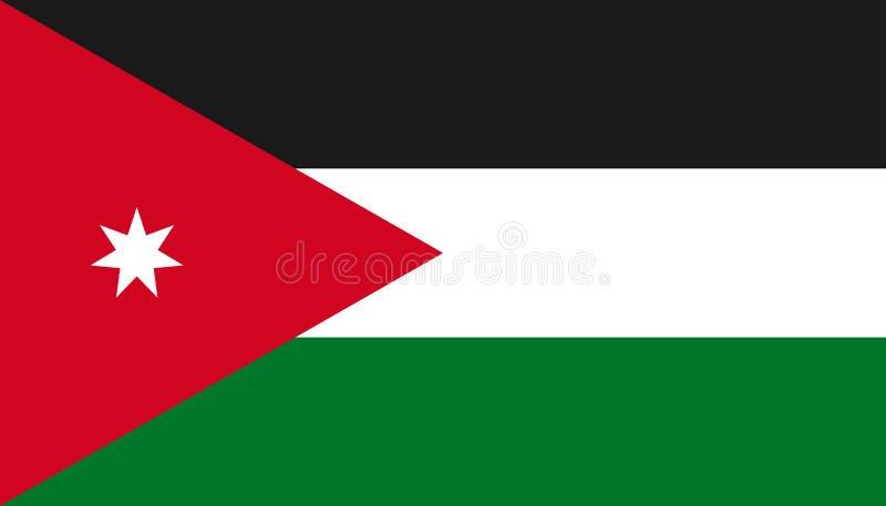 Icône de drapeau de la Jordanie dans le style plat Illustration nationale de vecteur de signe Concept adroit d'affaires illustration de vecteur