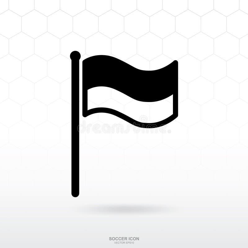 Icône de drapeau Le signe et le symbole de sport du football du football pour le calibre conçoivent illustration libre de droits
