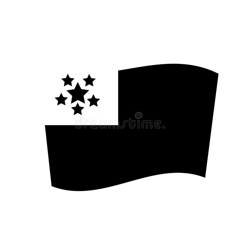 Icône de drapeau de Myanmar  illustration de vecteur