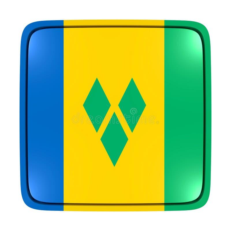 Icône de drapeau de Saint-Vincent-et-les-Grenadines illustration libre de droits