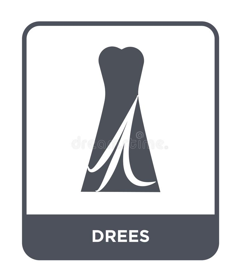 icône de drees dans le style à la mode de conception icône de drees d'isolement sur le fond blanc symbole plat simple et moderne  illustration libre de droits