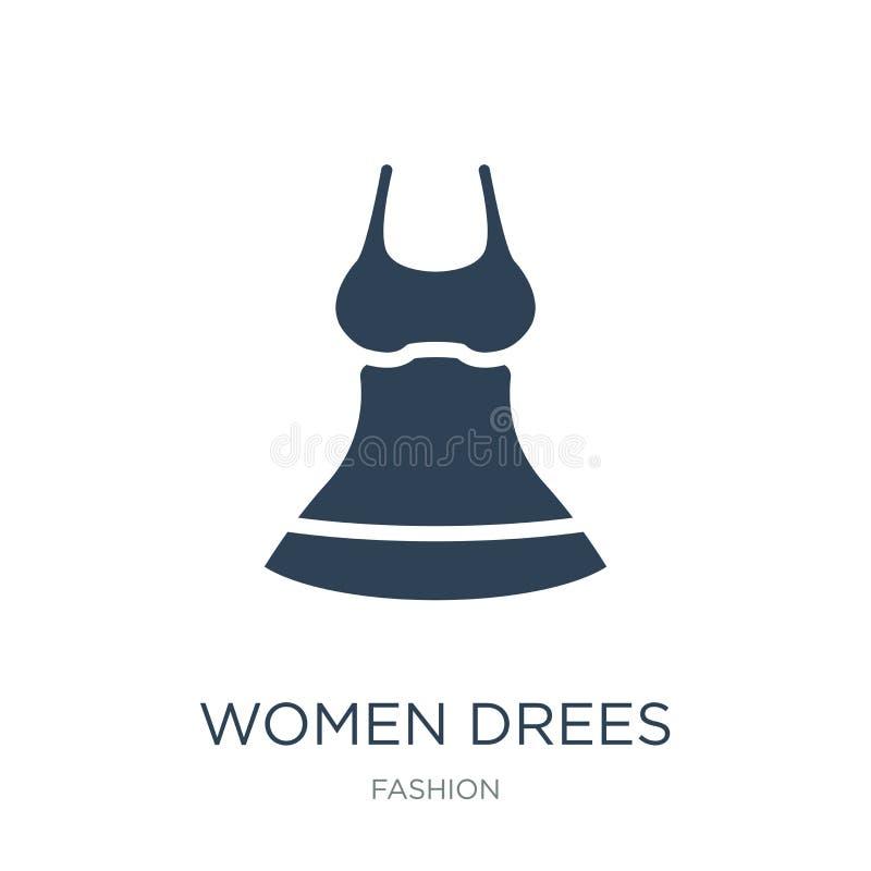 icône de drees de femmes dans le style à la mode de conception icône de drees de femmes d'isolement sur le fond blanc les drees d illustration stock