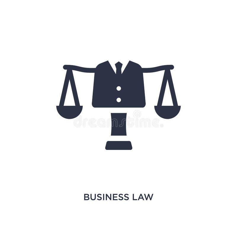 icône de droit des affaires sur le fond blanc Illustration simple d'élément de concept de loi et de justice illustration de vecteur