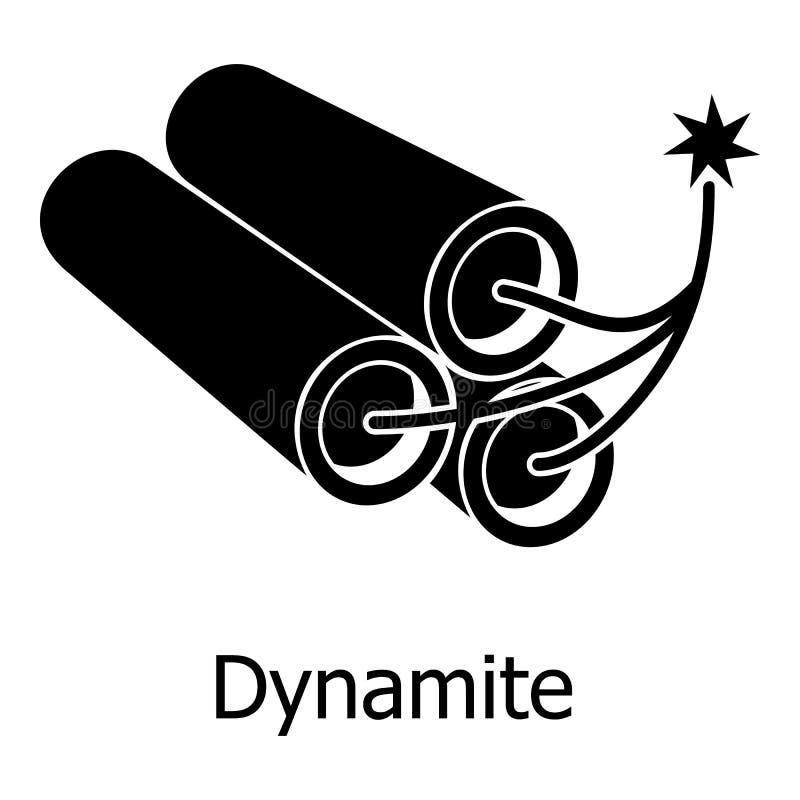 Icône de dynamite, style noir simple illustration de vecteur