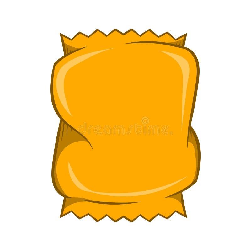 Icône de empaquetage chiffonnée, style de bande dessinée illustration de vecteur