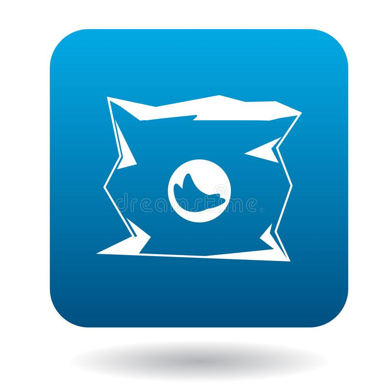 Icône de empaquetage utilisée dans le style simple illustration stock