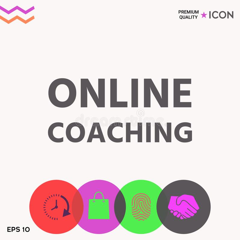 Icône de entraînement en ligne illustration libre de droits