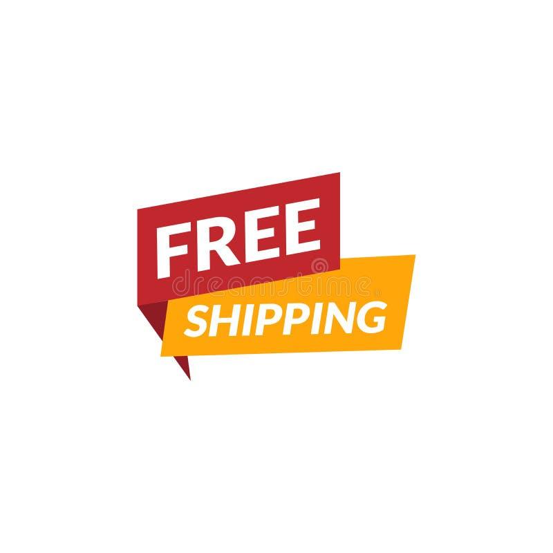 Icône de expédition libre de vecteur Indicateur de service de distribution Autocollant des services de cargaison D'isolement sur  illustration stock