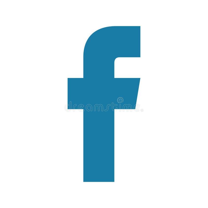Icône de F sur un fond blanc illustration stock