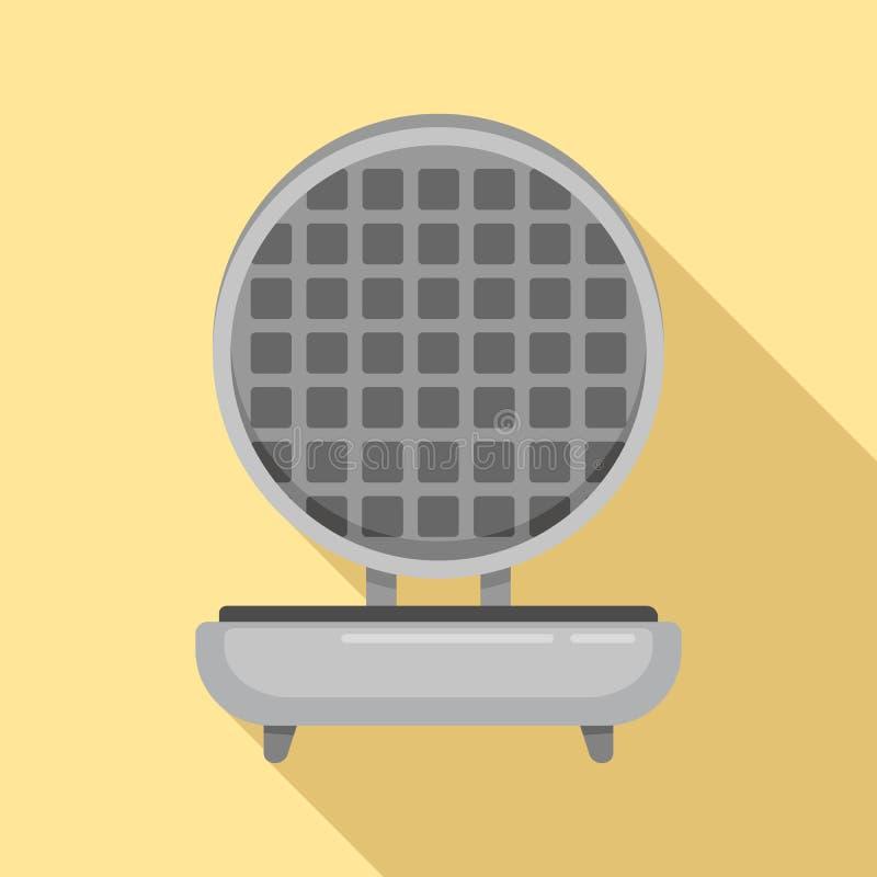 Icône de fabricant de gaufre, style plat illustration libre de droits