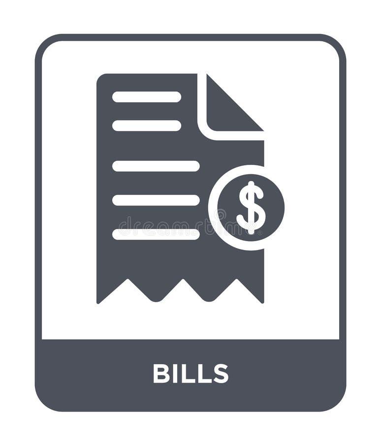 icône de factures dans le style à la mode de conception icône de factures d'isolement sur le fond blanc symbole plat simple et mo illustration stock