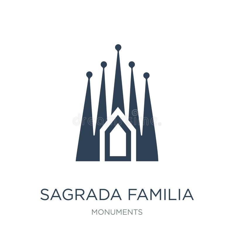 icône de familia de sagrada dans le style à la mode de conception icône de familia de sagrada d'isolement sur le fond blanc icône illustration stock