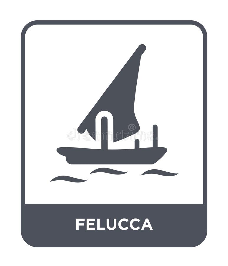 icône de felucca dans le style à la mode de conception icône de felucca d'isolement sur le fond blanc symbole plat simple et mode illustration libre de droits