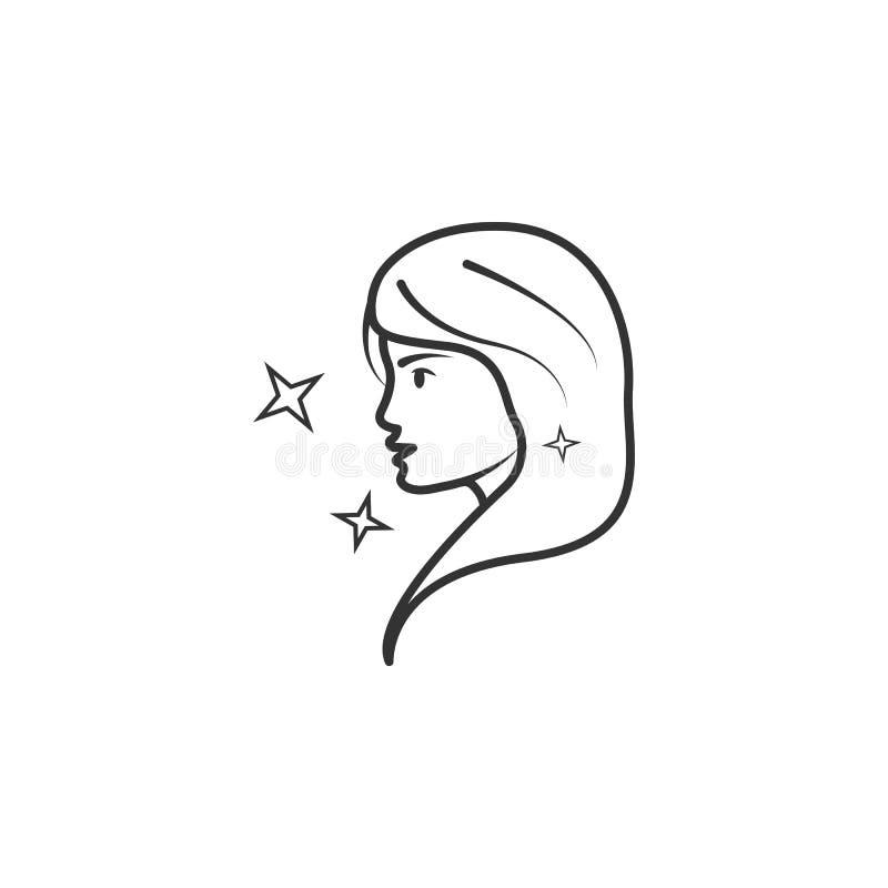 Icône de femme Élément d'icône de maquillage de femme pour des applis mobiles de concept et de Web L'icône détaillée de femme peu illustration stock