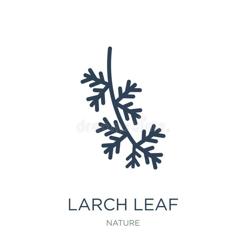 icône de feuille de mélèze dans le style à la mode de conception icône de feuille de mélèze d'isolement sur le fond blanc icône d illustration stock