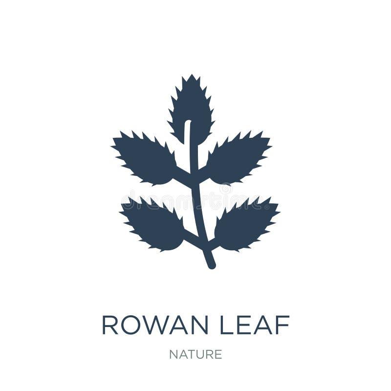 icône de feuille de sorbe dans le style à la mode de conception icône de feuille de sorbe d'isolement sur le fond blanc icône de  illustration libre de droits