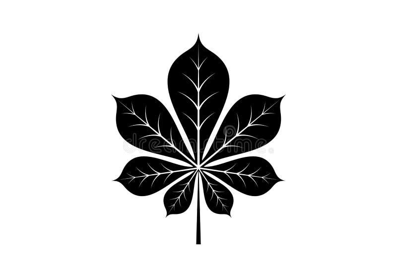Icône de feuilles d'automne Illustration de vecteur photos stock