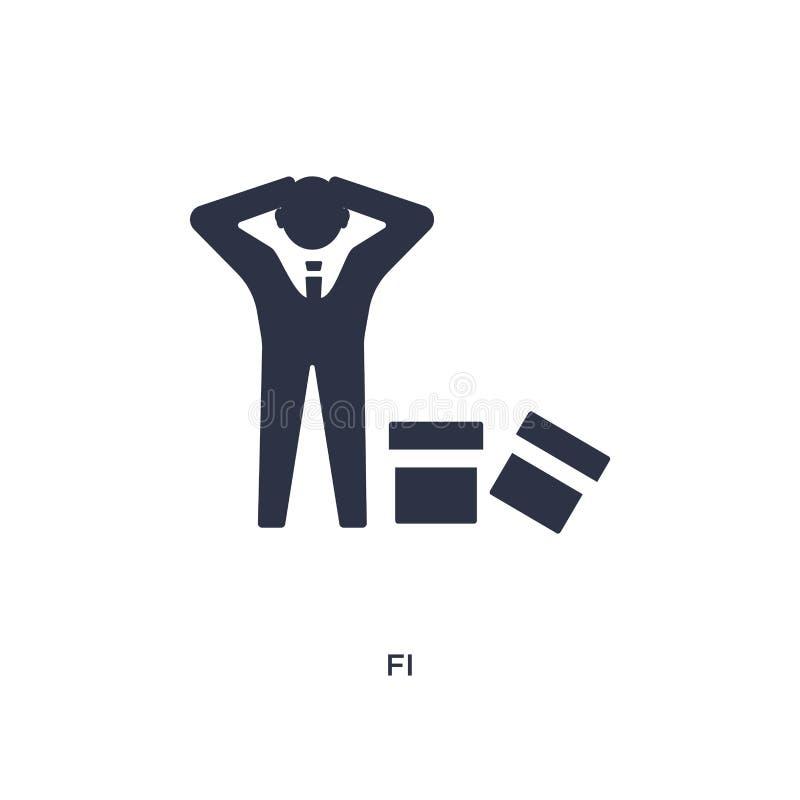 icône de fi sur le fond blanc Illustration simple d'élément de concept de ressources humaines illustration stock