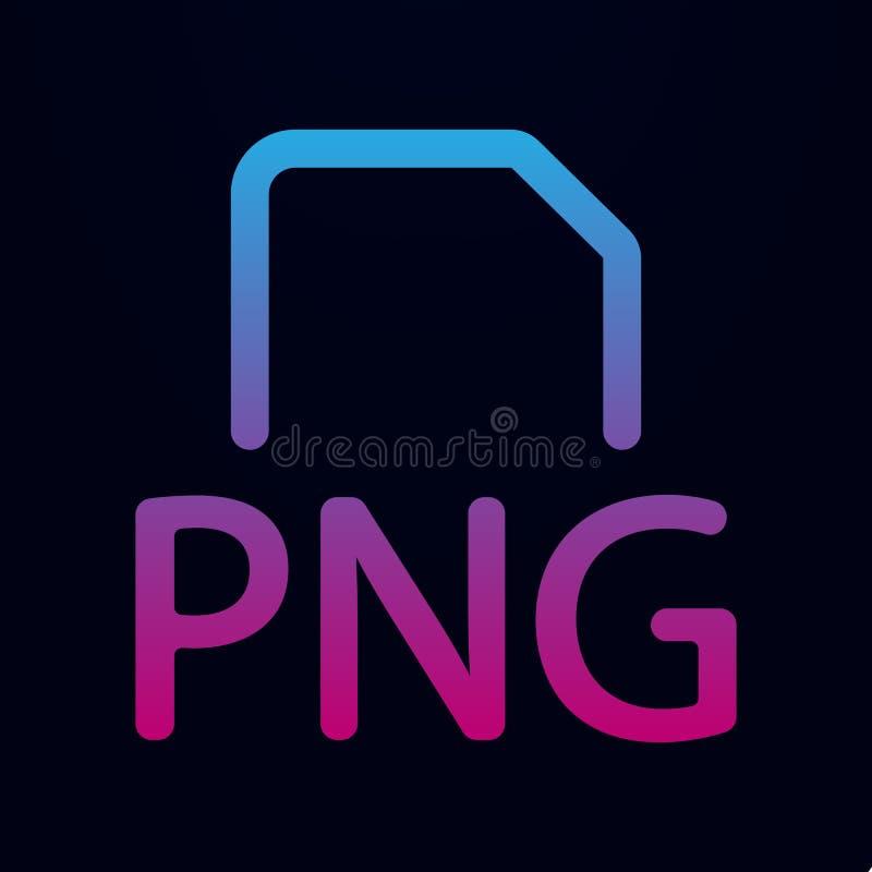 icône de fichier png nolan Ligne mince simple, contour des icônes Mix pour ui et ux, site Web ou application mobile illustration stock