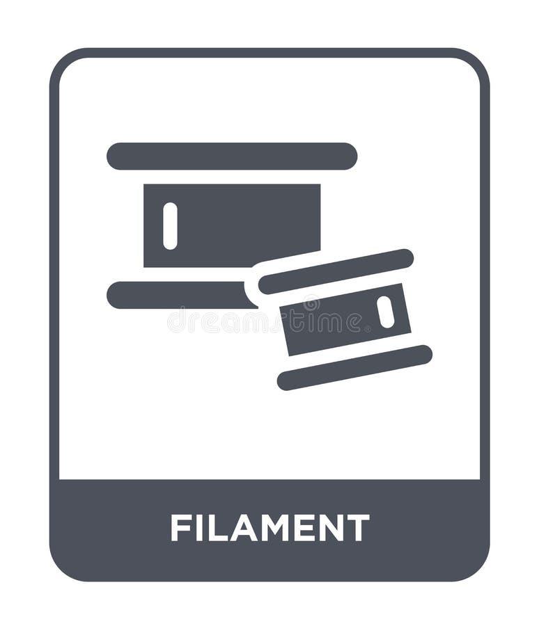 icône de filament dans le style à la mode de conception icône de filament d'isolement sur le fond blanc appartement simple et mod illustration libre de droits