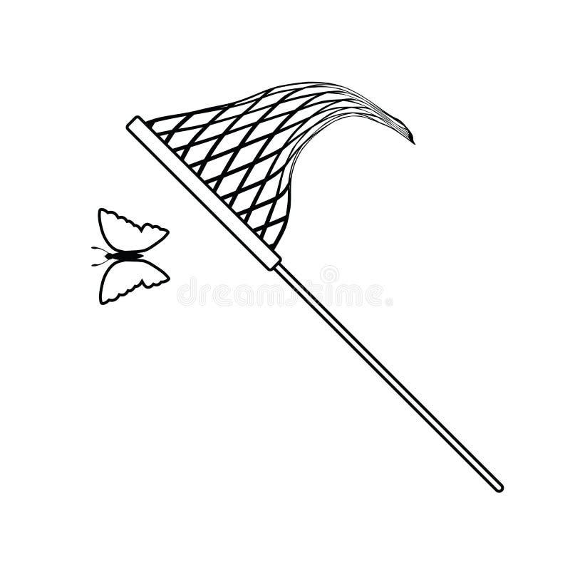 Icône de filet de papillon illustration libre de droits