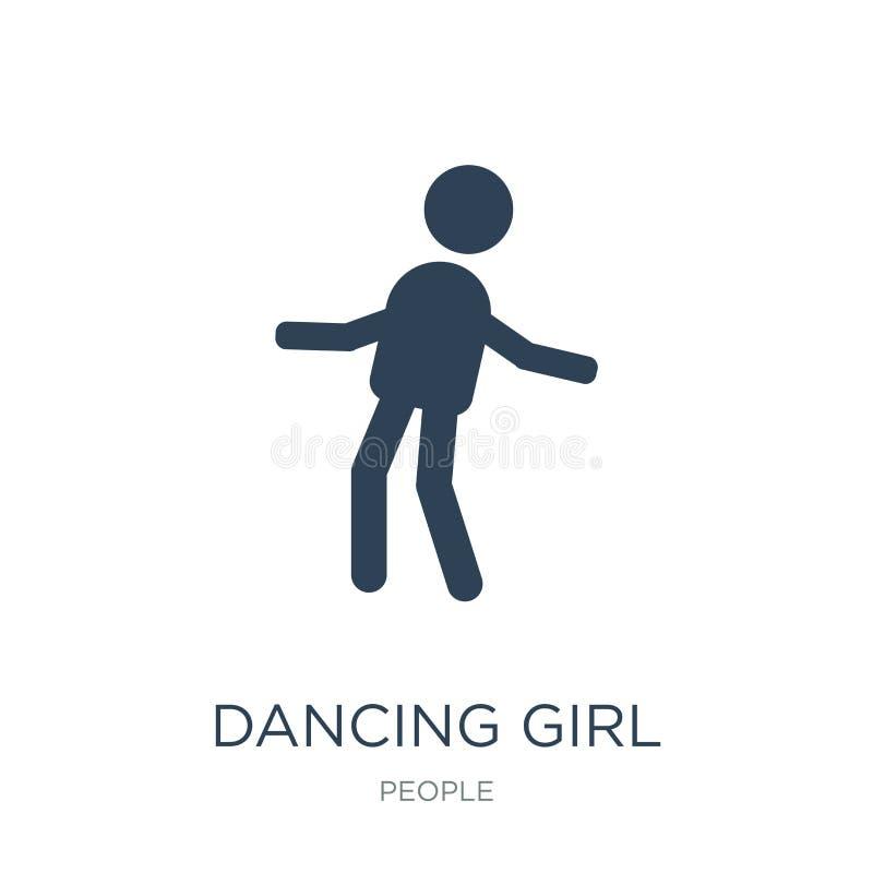 icône de fille de danse dans le style à la mode de conception icône de fille de danse d'isolement sur le fond blanc icône de vect illustration de vecteur