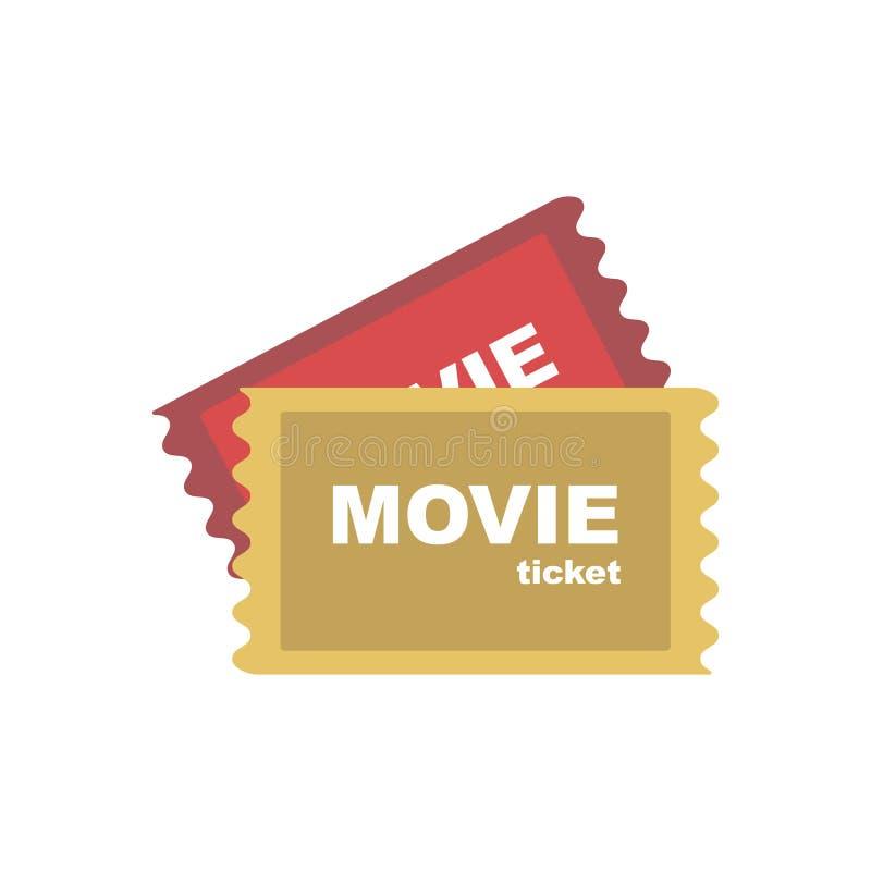 icône de Film-billets pour la conception illustration stock
