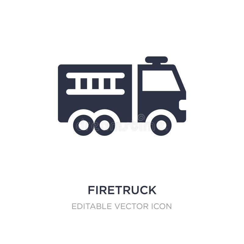 icône de firetruck sur le fond blanc Illustration simple d'élément de concept d'outils et d'ustensiles illustration stock