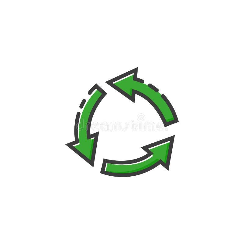 Icône de flèche de cercle dans une conception plate Illustration de vecteur illustration stock