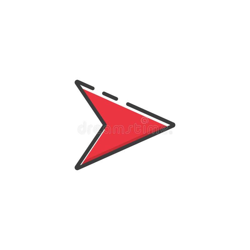 Icône de flèche dans une conception plate Illustration de vecteur illustration stock