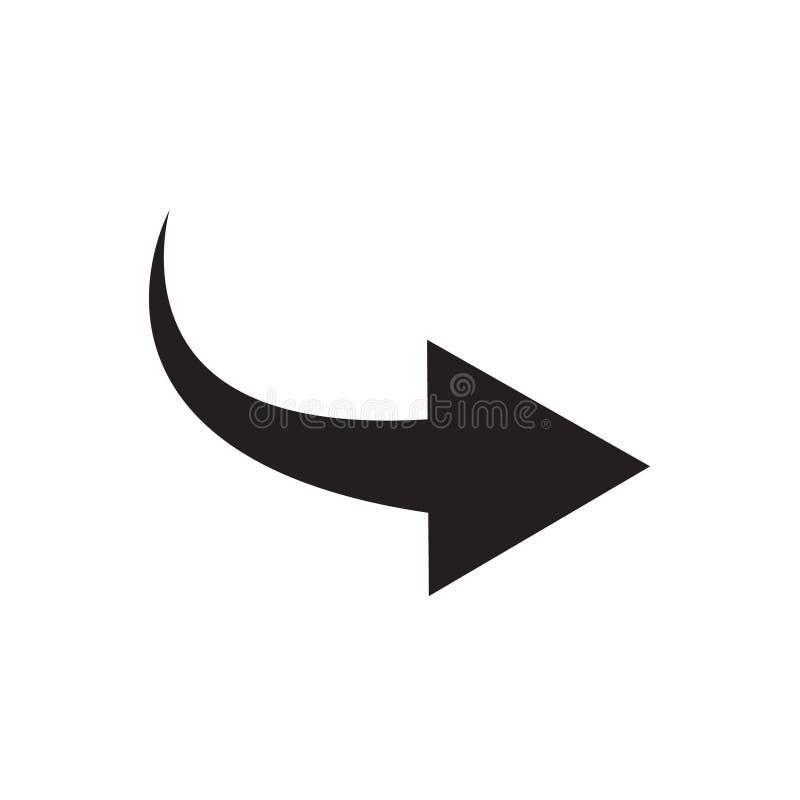 Icône de flèche Part, vecteur incurvé de flèche illustration stock